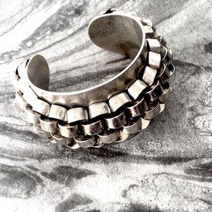 STELLA & DOTA metal link cuff bracelet